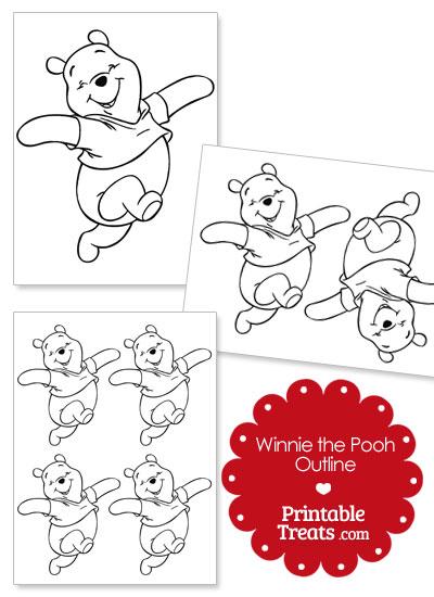 Printable Winnie the Pooh Outline from PrintableTreats.com