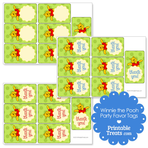 printable Winnie the Pooh favor tags