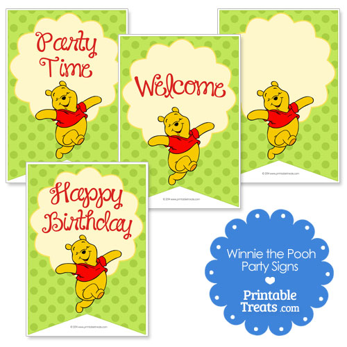printable Winnie the Pooh signs