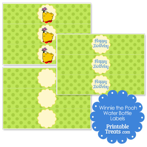 printable Winnie the Pooh water bottle labels