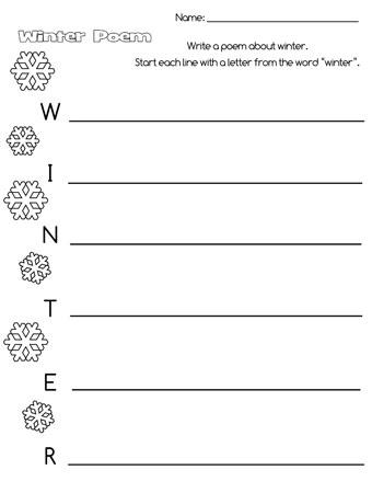 printable winter acrostic poem