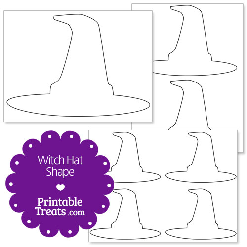 printable witch hat shape