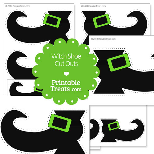printable witch shoe cut outs