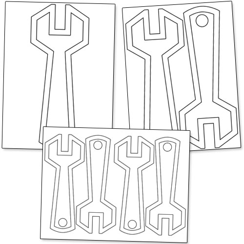 printable wrench template