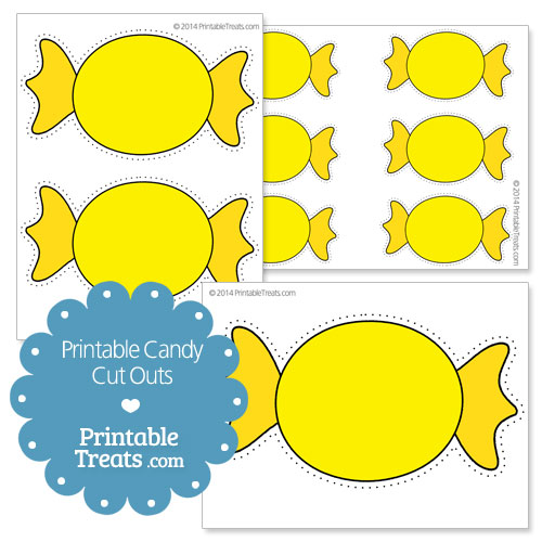 printable yellow candy cut outs