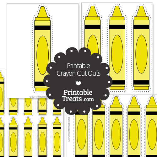 printable yellow crayon cut outs