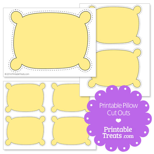 printable yellow pillow cut outs