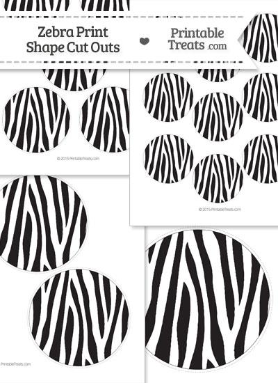 Printable Zebra Print Circle Cut Outs from PrintableTreats.com