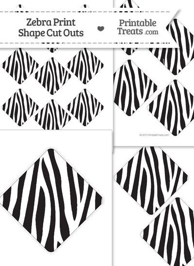 Printable Zebra Print Diamond Cut Outs from PrintableTreats.com