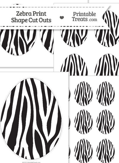 Printable Zebra Print Easter Egg Cut Outs from PrintableTreats.com
