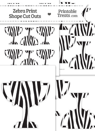 Printable Zebra Print Trophy Cut Outs from PrintableTreats.com