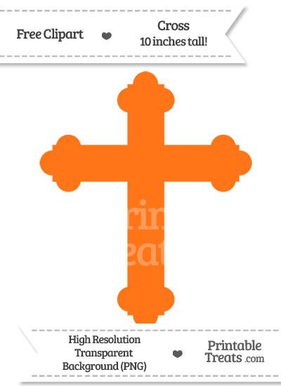 Pumpkin Orange Cross Clipart from PrintableTreats.com