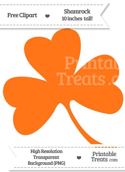 Pumpkin Orange Shamrock Clipart from PrintableTreats.com