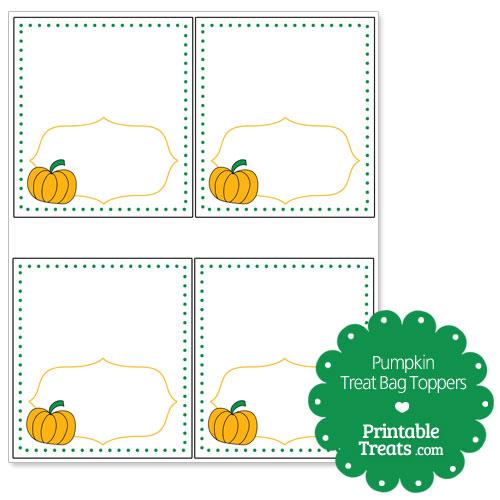 pumpkin treat bag toppers