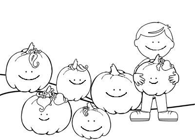 5 little pumpkins coloring sheets coloring page for Five little pumpkins sitting on a gate coloring page