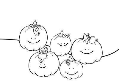 pumpkins coloring sheets five little pumpkins — printable