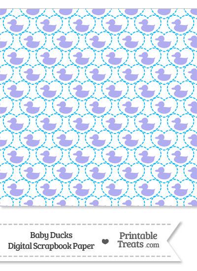 Purple Baby Ducks Digital Scrapbook Paper from PrintableTreats.com