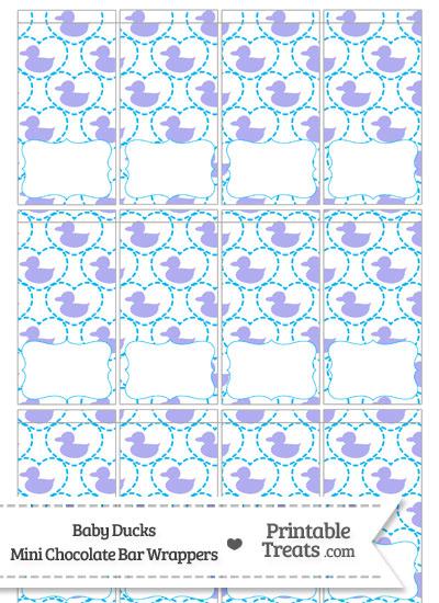 Purple Baby Ducks Mini Chocolate Bar Wrappers from PrintableTreats.com