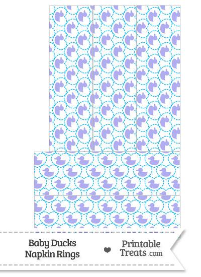 Purple Baby Ducks Napkin Rings from PrintableTreats.com