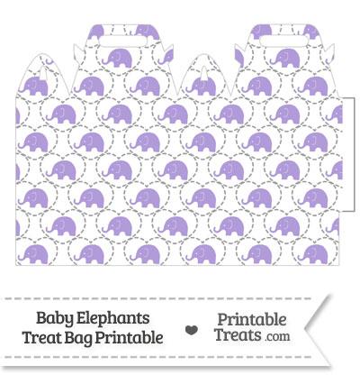 Purple Baby Elephants Treat Bag from PrintableTreats.com