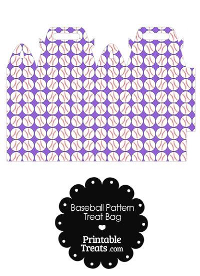 Purple Baseball Pattern Treat Bag from PrintableTreats.com