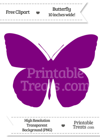 Purple Butterfly Clipart from PrintableTreats.com