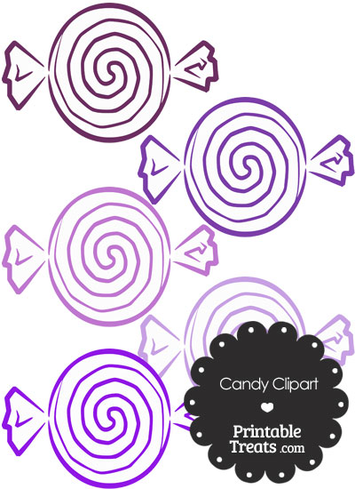 Purple Candy Clipart from PrintableTreats.com