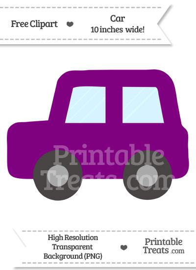 Purple Car Clipart from PrintableTreats.com