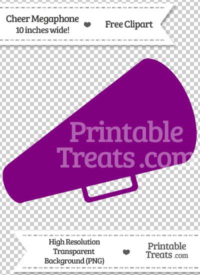 Purple Cheer Megaphone Clipart from PrintableTreats.com