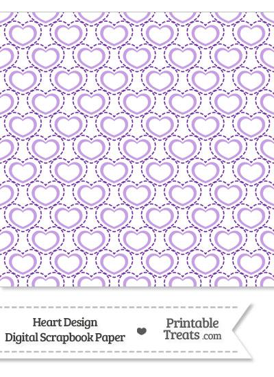 Purple Heart Design Digital Scrapbook Paper from PrintableTreats.com
