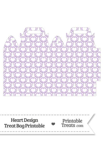 Purple Heart Design Treat Bag from PrintableTreats.com