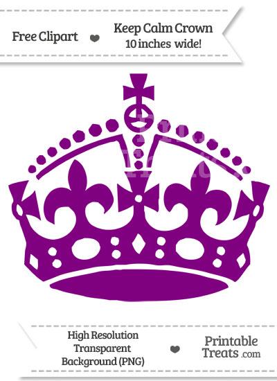 Purple Keep Calm Crown Clipart from PrintableTreats.com