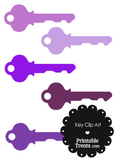 Purple Key Clipart from PrintableTreats.com