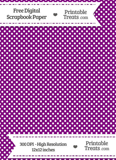 Purple Raised Mini Polka Dots Digital Paper from PrintableTreats.com