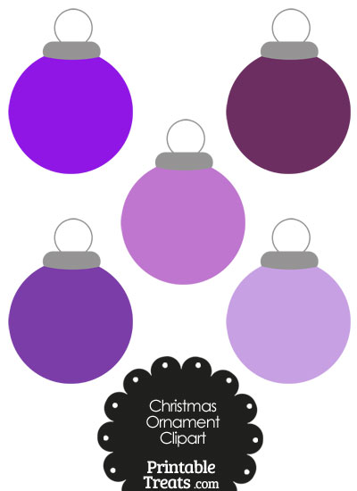 Purple Round Ornament Clipart from PrintableTreats.com