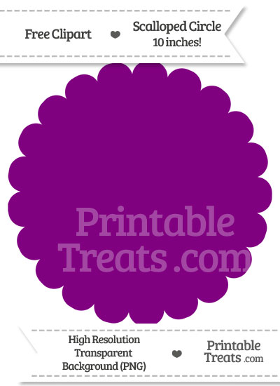 Purple Scalloped Circle Clipart from PrintableTreats.com