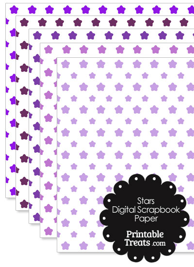 Purple Star Digital Scrapbook Paper from PrintableTreats.com