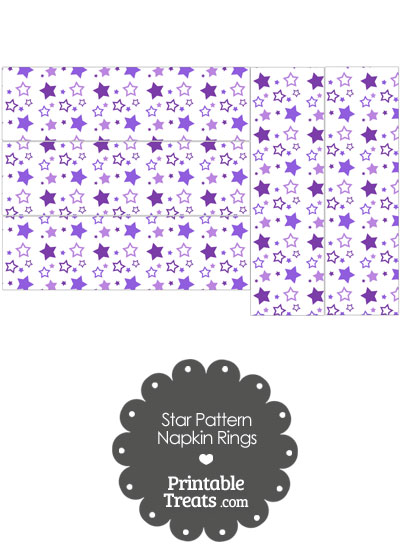 Purple Star Pattern Napkin Rings from PrintableTreats.com