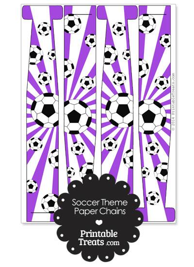 Purple Sunburst Soccer Paper Chains from PrintableTreats.com