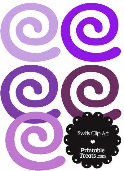 Purple Swirls Clipart from PrintableTreats.com