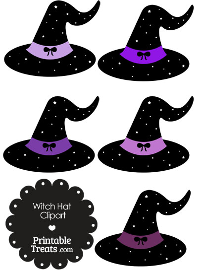 Purple Witch Hat Clipart from PrintableTreats.com