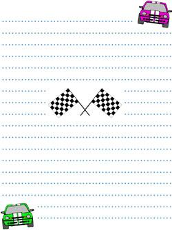 race car stationery