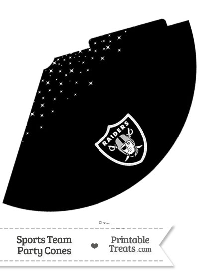 Raiders Party Cone Printable from PrintableTreats.com