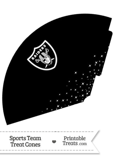 Raiders Treat Cone Printable from PrintableTreats.com