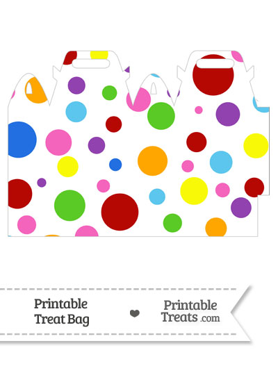 Rainbow Dots Treat Bag from PrintableTreats.com