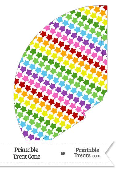 Rainbow Stars Treat Cone from PrintableTreats.com