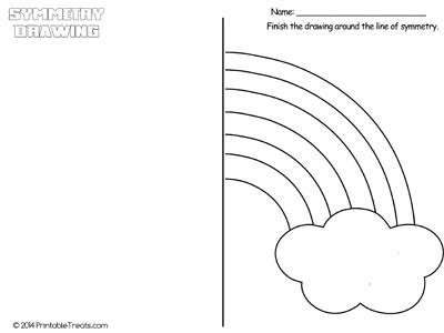 rainbow symmetry drawing worksheet