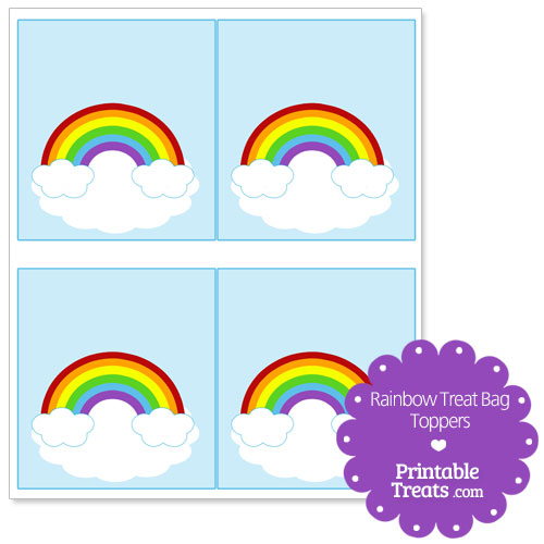 rainbow treat bag toppers