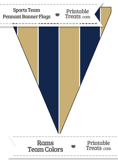 Rams Colors Pennant Banner Flag from PrintableTreats.com
