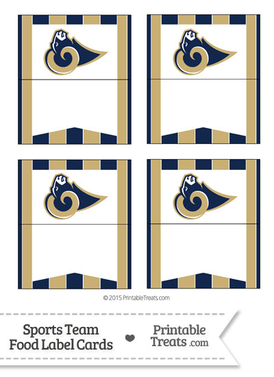 Rams Food Label Buffet Cards from PrintableTreats.com